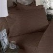 Italian Collectiion Luxury Soft Wrinkle Resistant Striped QUEEN Sheet Set, MOCHA