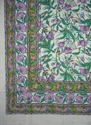 Cotton French Floral Print Tapestry