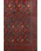 Deep Red Classic Small Indian Floral Bedspread, Twin Size