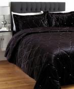Diamante Black Bedspread