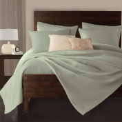 Lamont Limited Delaney Coverlet, Full/Queen, Sea Foam