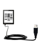 USB Data Hot Sync Straight Cable designed for the Kobo Aura / Aura HD with Charge Function - Two functions in one unique Gomadic TipExchange enabled cable