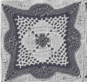 Vintage Crochet PATTERN to make - MOTIF Block Bedspread in Ornate Taj Mahal Design. NOT a finished item. This is a pattern and/or instructions to make the item only.