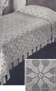 Vintage Crochet PATTERN to make - MOTIF Block Bedspread in Vespers Fillet Crochet Design. NOT a finished item. This is a pattern and/or instructions to make the item only.
