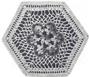 Vintage Crochet PATTERN to make - MOTIF Block Victorian Nosegay Flower Bedspread. NOT a finished item. This is a pattern and/or instructions to make the item only.