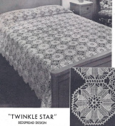 Vintage Crochet Pattern to make - Twinkle Star Bedspread Design. NOT a finished item. This is a pattern and/or instructions to make the item only.