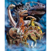 New Signature Collection Queen Size Dinosaurs Mink Blanket