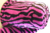 Hot Pink Zebra Super Soft Coral Fleece Blanket Queen 230cm x 190cm
