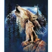 New Signature Collection Queen Size Harmony of Wolves Korean Mink Blanket