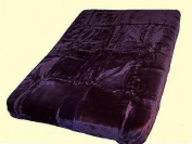 Solaron King Solid Colour Korean Mink Blanket - Purple