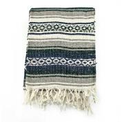Mexican Blanket Serape colours black, grey & white