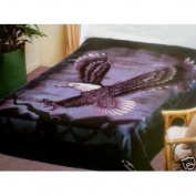 Solaron King Flying Eagle Korean Mink Blanket blk