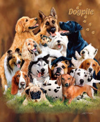 Dog Pile Queen Size Plush Raschel Signature Blanket by Gardner 79x95