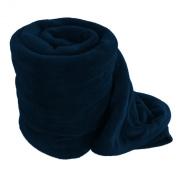 Navy Blue Solid Colour Super Soft Coral Fleece Blanket Queen 230cm x 190cm