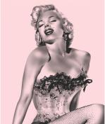 "Marilyn Monroe ""Pink Fishnet"" Queen Blanket w/Beach Towel"