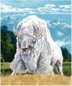 New Signature Collection Queen Size White Buffalo Korean Mink Blanket