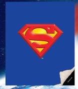"Superman ""Shield"" Double Sided Sherpa Queen Blanket"