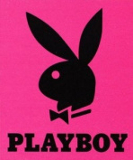New Licenced Original PLAYBOY BUNNY RABBIT HOT PINK Queen Size Royal Plush Blanket