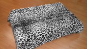 Solaron Leopard Print Grey and Black Mink Blanket