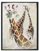 New Three Giraffes Queen Mink Blanket