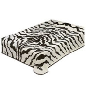 Solaron King Zebra Print Korean Mink Blanket