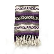 Mexican Blanket Serape colours purple, grey & black