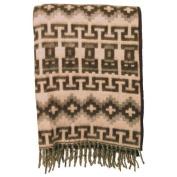 Alpaca Blanket Reversible Geometric Two Tone Warm, Soft and Light