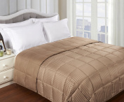 All Season Down Alternative Reversible Blanket, Queen, Taupe