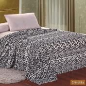 MicroPlush Printed Blanket Chinchilla