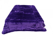 Solid Purple Heavy 3.6kg Polyester Mink Blanket Queen Size