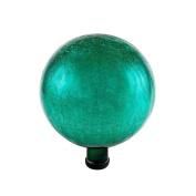 Achla Designs 25cm Crackle Gazing Globe Ball, Emerald Green