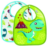 Sugarbooger Mini Bib Gift Set, Prehistoric Pals, 2 Count