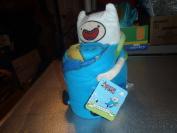 "Adventure Time Hugger Finn Plush Doll Toy Pillow & Fleece ""Drop Kick"" Blanket Gift Set"