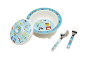 Sugarbooger Covered Suction Bowl Gift Set, Polar Pals