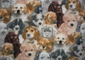 Allover Puppy Dog Fleece Throw Blanket