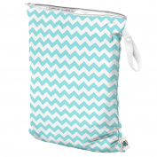 Planet Wise Wet Nappy Bag, Teal Chevron, Large
