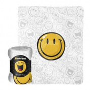 Smiley World 130cm x 150cm Throw Blanket