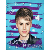 Justin Bieber Hearts and Stars Super Soft Fleece Throw Blanket 50x60