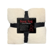 Genuine Snug Rug Luxury Blanket Warm Sherpa Throw Fleece - Cream