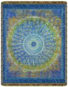 Peacock Mandala Tapestry Throw Blanket