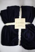 Lauren Ralph Lauren Classic Navy Micro Mink Throw Blanket-130cm x 180cm