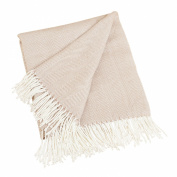 SARO LIFESTYLE TH415 1-Piece Throw, 130cm by 150cm , Camel