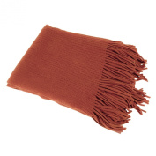Saro Lifestyle TH024 Terracotta 130cm by 150cm Faux Cashmere Throw
