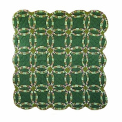 Patch Magic 130cm by 150cm Green Double Wedding Ring Throw