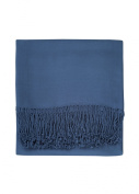 Nine Space Viscose from Bamboo Solid Throw Blanket, Midnight Blue, 130cm x 180cm