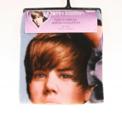 Justin Bieber Blanket the Bieber Signature Fleece Throw 130cm X 150cm Justin Bieber Collectable Throw.