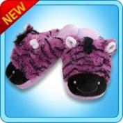 My Pillow Pets Zany Zebra medium slippers