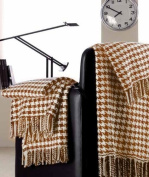 Peach Couture® Soft and Luxurious Cashmere Houndstooth Throw