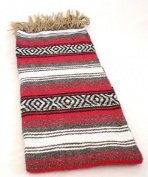 Red Quality Hand Woven Classic Mexican Premium Yoga SYFT Blanket Large Throw