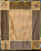 Faux Leather Lodge Grid Throw
